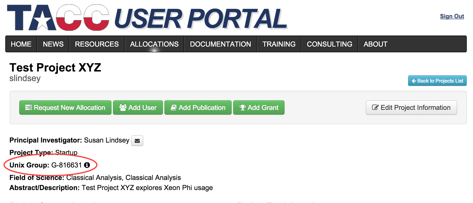 how to share project files at tacc tacc user portal
